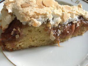 Rharbarberkuchen mit Baiser - rabarberkage med mareng